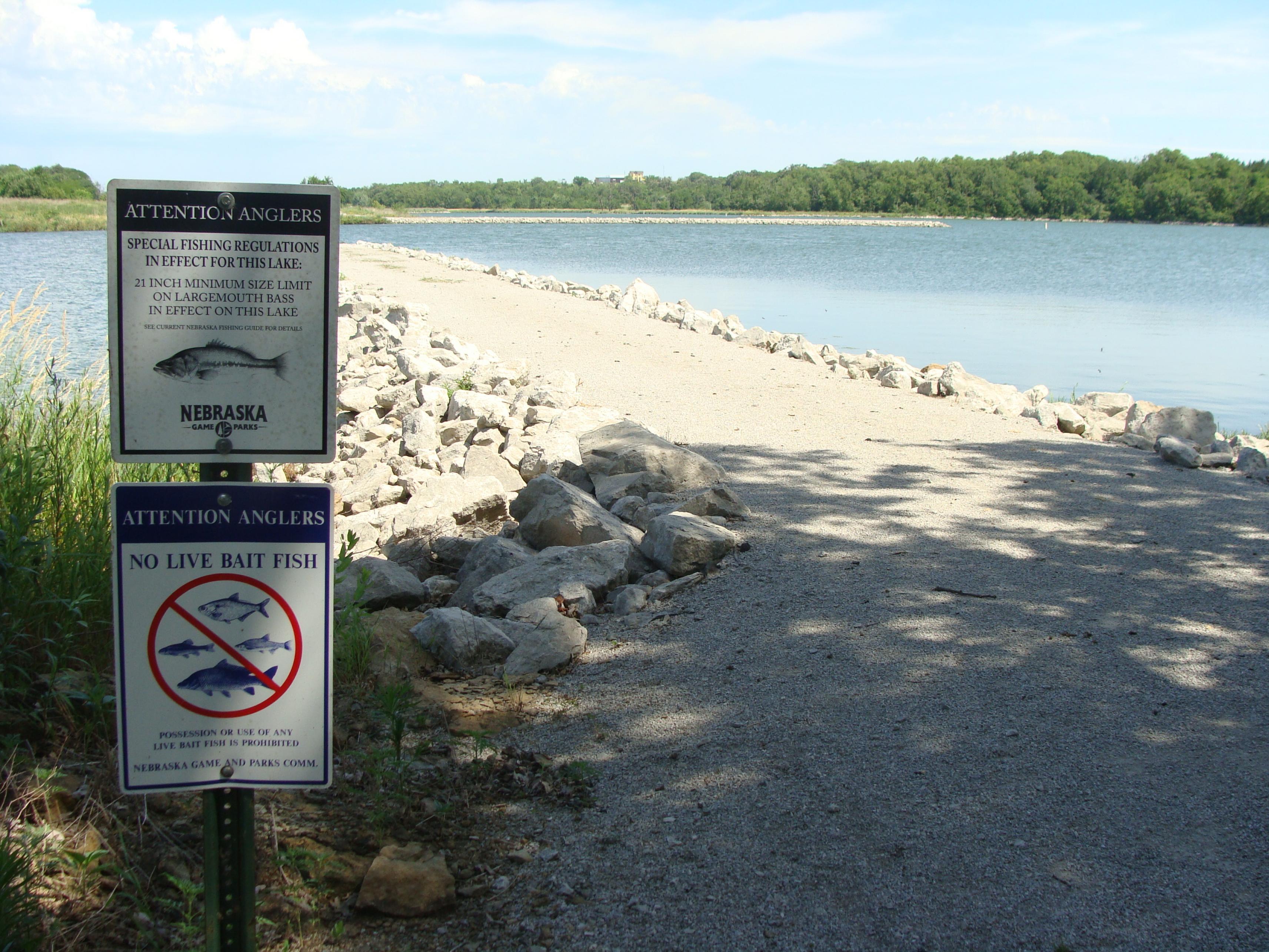 Iron horse trail lake nemaha natural resources district for Nebraska fishing report